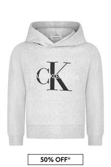 Calvin Klein Jeans Kids Grey Cotton Hoodie
