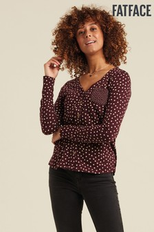 FatFace Purple Chiara Spot Top