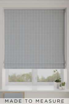 Malvern Stone Grey Made To Measure Roman Blind