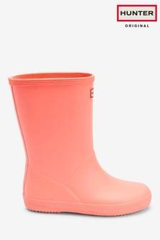 Hunter Kids Pink First Classic Wellington Boots