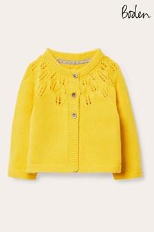 Boden Yellow Everyday Textured Cardigan