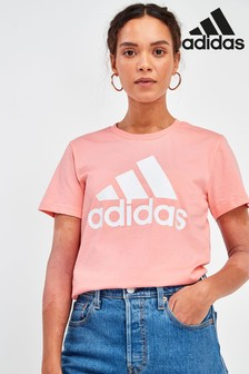 adidas Pink Badge Of Sport T-Shirt