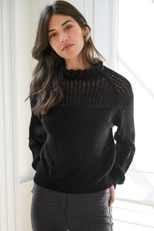 Ruffle Neck Jumper