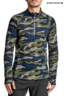 Bjorn Borg Aric Half Zip Top In Camo