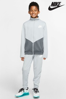 Nike Grey Chevron Poly Tracksuit