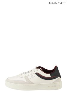 GANT White Detroit Low Lace Shoes