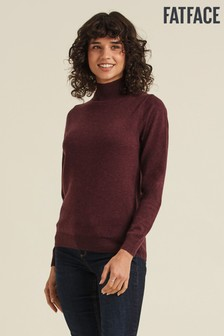 FatFace Purple Rachel Turtle Neck Jumper