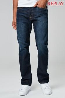Replay® Dark Indigo Waitom Straight Fit Jean