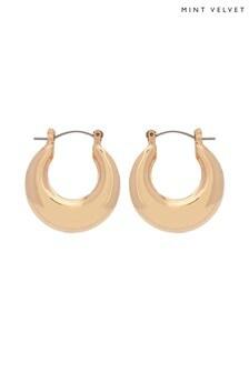 Mint Velvet Gold Tone Clean Hoop Earrings