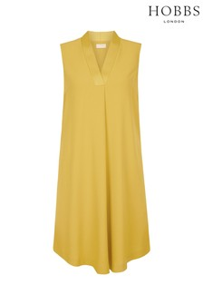 Hobbs Yellow Davina Dress