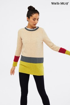 White Stuff Natural Teak Colourblock Tunic