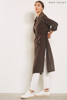 Mint Velvet Chocolate Soft Longline Trench