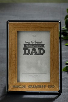 Worlds Greateset Dad Photo Frame