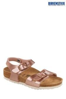 Birkenstock® Rose Gold Rio Sandals