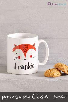 Personalised Fox Mug By Loveabode