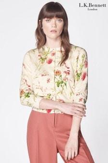 L.K.Bennett Cream Tissie Floral Cardigan