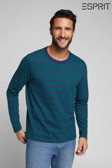 Esprit Green Mens Long Sleeve T-Shirt