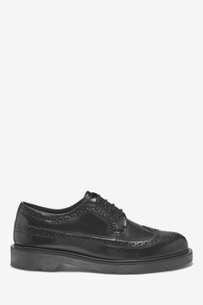High Shine Ridged Sole Brogue Shoes
