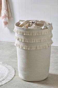 Woven Fringe Laundry Bag