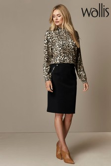 Wallis Black Skirt