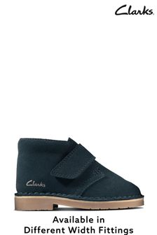 Clarks Navy Suede Desert Boots