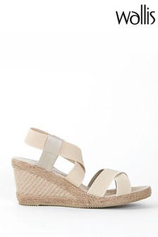 Wallis Starfruit Natural Elastic Detail Wedges