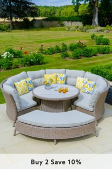 Bergen Curved Modular Set By LG Outdoor