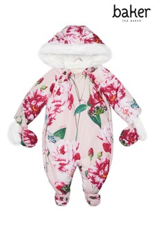 baker by Ted Baker Pink Print Snowsuit