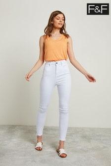 F&F White Contour Jean
