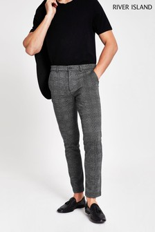 River Island Aries Check Jersey Trousers