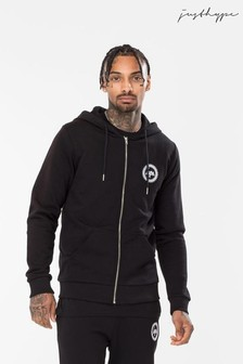 Hype. Black Men's Zip Hoody