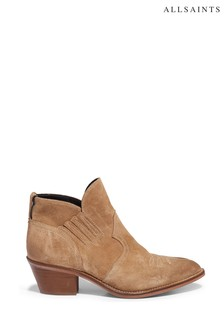AllSaints Sand Weiz Western Pull-On Suede Boots
