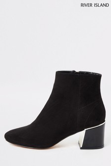 River Island Black Esme Heel Chelsea Boots