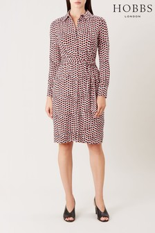 Hobbs White Sandrine Dress
