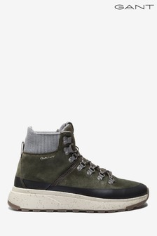 GANT Green Tomas Mid Lace Boots