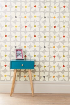 Paste The Wall Geo Floral Wallpaper