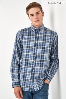 GANT Blue Winter Twill Heather Regular Shirt