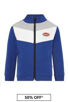 Bugatti Baby Boys Blue Cotton Jacket
