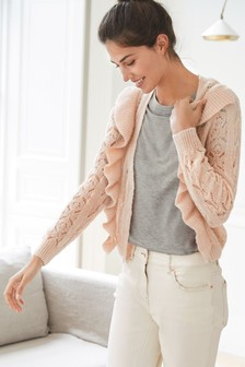 Cardigan con ruches