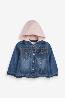 Jersey Hood Denim Jacket (3mths-7yrs)