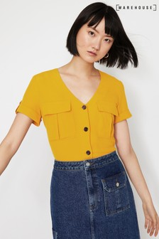 Warehouse Yellow Utility Pocket Front Top