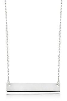 Beaverbrooks Silver Bar Necklace