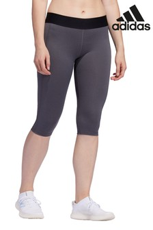 adidas Badge of Sport Grey Capri Leggings