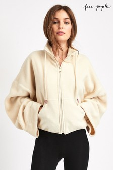 Free People Cream Climb High Fleece