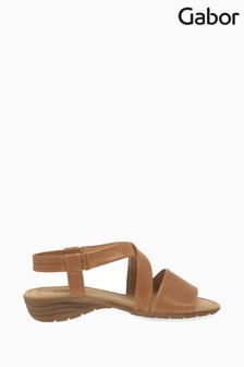 Gabor Ensign Cognac Leather Sandals