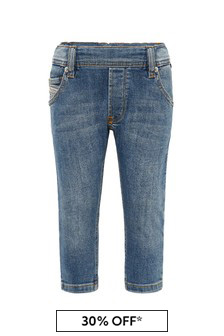 Diesel Baby Boys Blue Cotton Jeans