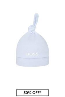 Boss Kidswear BOSS Baby Boys Blue Cotton Hat