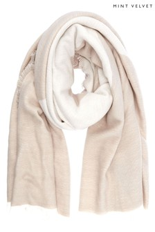 Mint Velvet Natural Star Soft Scarf