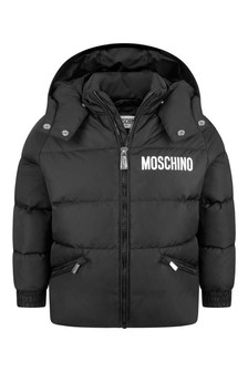 Kids Black Down Padded Jacket
