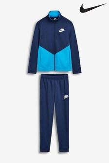 Nike Navy Chevron Poly Tracksuit